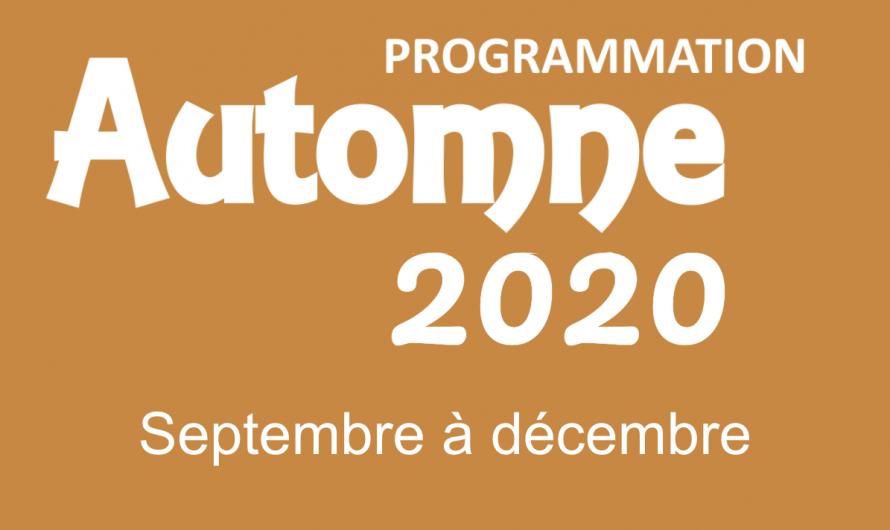 Automne 2020 – Ça reprend !!